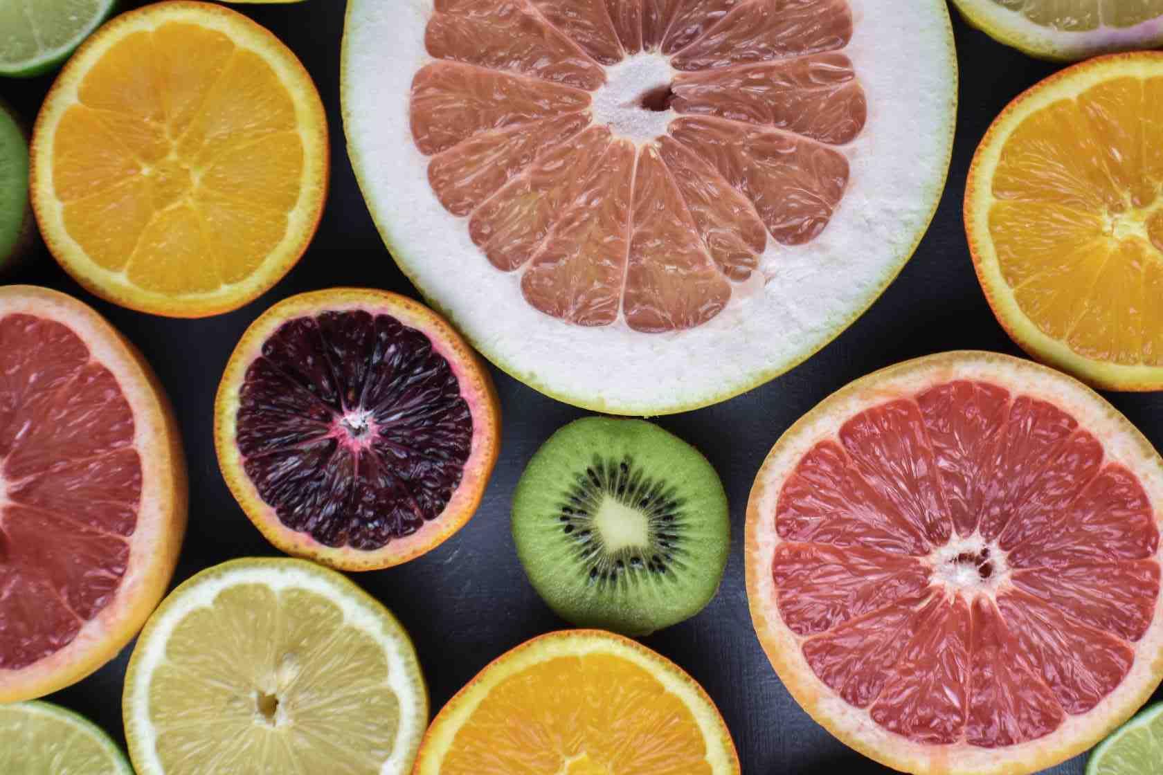 Naranjas con alto contenido en pectina cortadas en rodajas